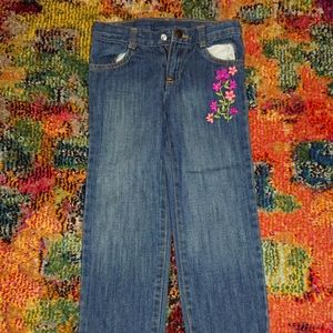 Girls flower jeans